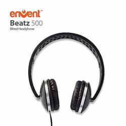 Envent Beatz 500 ET-HPM500 BK Wired Headphones with Mic (Black)