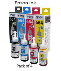 Epson Ink Bottles- Set of 4