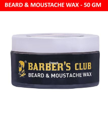 Barber s Club Beard & Moustache Wax with Tea Tree Oil (100% Organic & Natural) -50gm