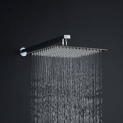 SSS-6X6 inches Ultra slim Shower Head with 12 inches square shower arm