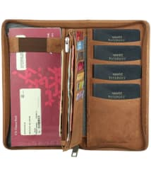 Style 98 Hunter Leather Brown Passport Holder