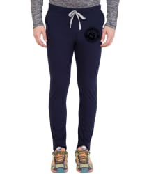 Cliths Navy Cotton Trackpants Single