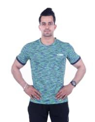 ORIGIN SPORT Green Polyester Lycra T-Shirt