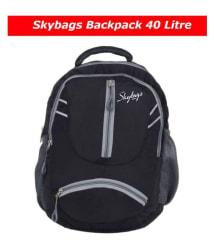 Skybags Backpack skybag College Bag School Bag Laptop Bag - Black 40 litre