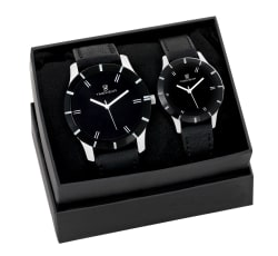 TIMEWEAR Analog Black Dial Couple Watch