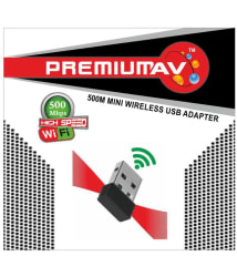 PremiumAV 2.4Ghz Wireless Wifi Dongle 500Mbps 802.11n USB Connector