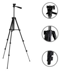 Spring Jump Black Tripod for mobile and Digital camera