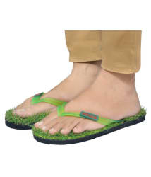 YTNAB UNISEX GRASS SLIPPERS Green Daily Slippers