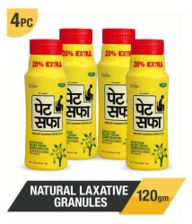 Pet Saffa Natural Laxative Granules 120gm, Pack of 4 (Helpful in Constipation, Gas, Acidity, Kabz), Ayurvedic Medicine