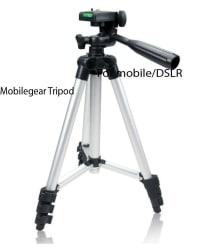 Mobilegear Tripod for DSLRs/Mobiles/Action Cameras 3-Way Pan 3 Tripod