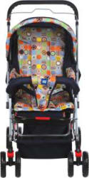 MeeMee Comfortable Pram with 3 Seating Positions (Multicolor) Pram (3, Multicolor)
