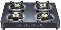 Prestige Royale Plus Glass, Aluminium Automatic Gas Stove 4 Burners