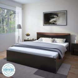 Flipkart Perfect Homes Carol Queen Bed Finish Color - Wenge