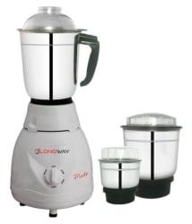 LONGWAY PLUTO PRO 500 Watt 3 Jar Mixer Grinder
