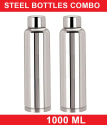 KC 1000 ml Stainless Steel Fridge Bottles Buy One Get One Free