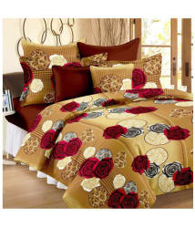 Aazeem Poly Cotton Double Bedsheet with 2 Pillow Covers