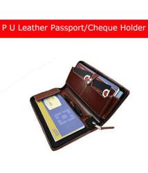 Coi C0406 Leather Brown Passport Holder