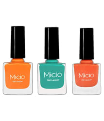 MICIO Nail Polish Combo of 3 Shades 8 ml