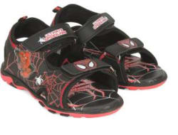 Spiderman Boys Velcro Sports Sandals (Black)