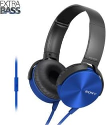 Sony XB450AP Wired Headset with Mic Blue, Over the Ear