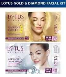 Lotus Herbals Gold & Diamond Combo Facial Kit (37gms each)