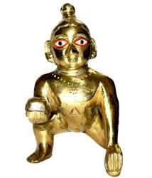 Narayan Golden Laddu Gopal Idol