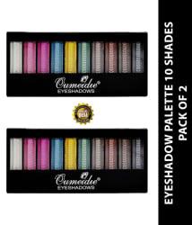 Mars Qumeidie Eye Shadow Pressed Powder 10 Shade Colours 2 no.s Pack of 2