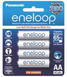 Panasonic Eneloop BK-3MCCE/4BN Rechargeable Battery 4 x AA 2000mAh