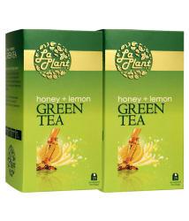 LaPlant - Honey and Lemon Green Tea, 50 Tea Bags (Pack of 2 - 25 Tea Bags Each)