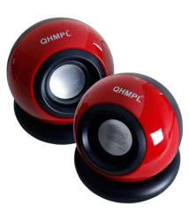 Quantum QHM 620 USB 2.0 Mini Computer Speakers - Black & Red