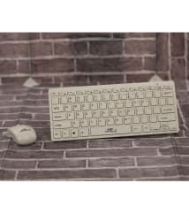 Terabyte TB-Wireless White Wireless Keyboard Mouse Combo (USB Dongle is inside Mouse battery cover)