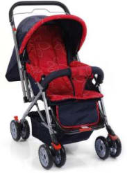 Plus One Pram & Stroller Red Tri Pram (3, Red)