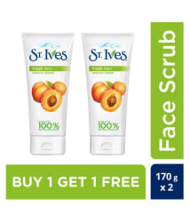 St. Ives Apricot Facial Scrub 170 gm each (Pack of 2) Buy 1 Get 1 Free
