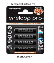 Panasonic Eneloop Pro BK-3HCCE/4BN 4 x AA 2550mAh Ni-MH Battery