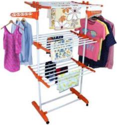 Sukot MODERN FOLDABLE RICH LOOK 3 TIER Carbon Steel, Polypropylene Floor Cloth Dryer Stand (Orange)