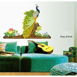 Walltola Peacock Bird Wall Sticker (150X85 Cm)