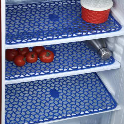 E-Retailer Set of 3 Plastic Drawer Mat Multi Purpose Use ( Blue,12*17 Inch) Fridge Mats
