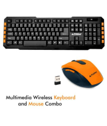 ProDot TLC-107+175 2.4Ghz Multimedia Wireless Keyboard and Mouse Combo Compact and Portable for PC, Laptop, Desktop, Android TV and Smart TV (Mash Yellow)