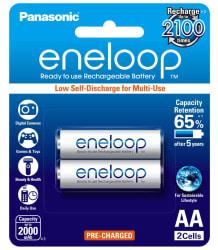 Panasonic Eneloop BK-3MCCE/2BN Rechargeable Battery (2x2000 mAh)
