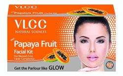 VLCC Papaya Fruit Facial Kit, 60g with Free White & Bright Glow Gel Cream 20G