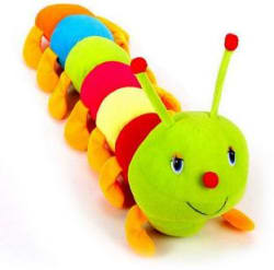 Arthr Beautiful Cute Colorful Caterpillar Soft Toy - 55 cm (Multicolor)