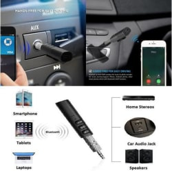 Trost 3.5mm Bluetooth Audio Jack Receiver With Mic For Car Kit Compatible For Android & iOS