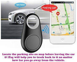 Crystal Wireless Bluetooth 4.0 Car Anti-lost Anti-Theft Alarm Device Tracker GPS Car Parking Locator Key/Dog/Kids/Wallets Finder Tracer w/ Camera Remote Shutter & Recording for iPhone iPad & Android 4.0
