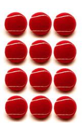 AkshMall Red Cricket Tennis Ball (12 Pcs)