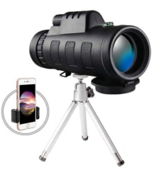 VTech Monocular Telescope High Power Scope Waterproof With Phone Clip And Tripod 40x60 Telescope