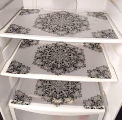 Khushi Creation Set of 6 PVC classic Transparent premium refrigerator mat Fridge Mats