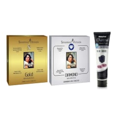 Shahnaz Husain Gold & Diamond Facial Kit + Charcoal Peel Off Mask