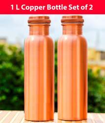 1 L Pure Copper Water Bottle Set of 2