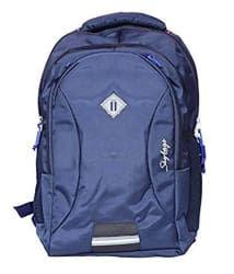 Skybags Navy Blue Polyester Backpack with Rain Cover