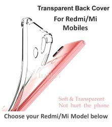 Redmi Note 5 Shock Proof Case IRABLESS - Transparent Bumpers provide protection against drops